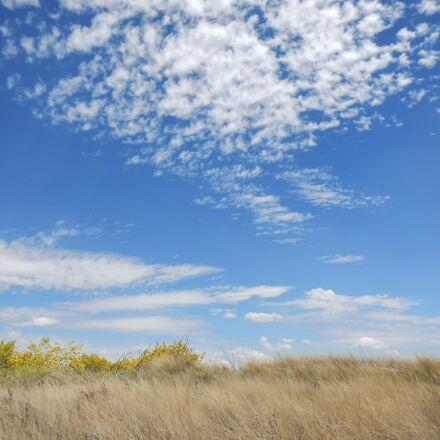 sky, clouds, field, Nikon COOLPIX AW100