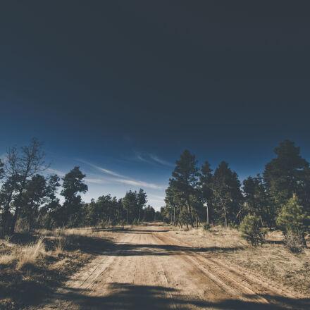 road, sky, trees, grass, Nikon D7000