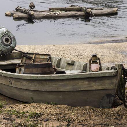boat, beach, nature, Olympus E-5