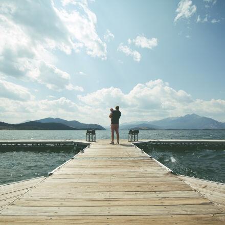 landscape, mountains, sky, water, Canon EOS 5D MARK II
