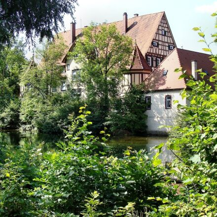 hunting lodge, castle, schnaitheim, Sony DSC-H10