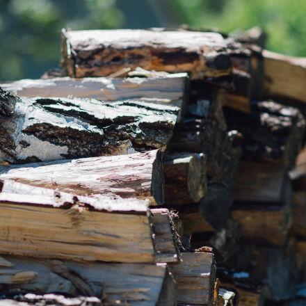 brown, firewood, during, daytimes, Nikon D3100