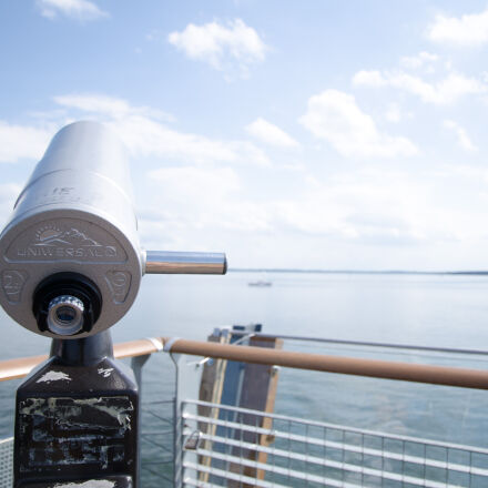 sea, bridge, binoculars, poland, Nikon D7000