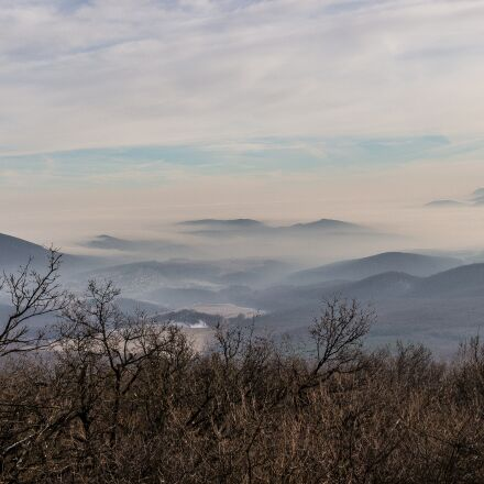 mountains, valley, forest, Canon EOS 700D