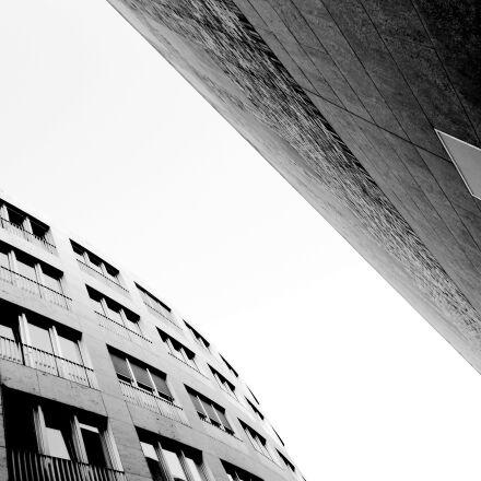 facade, building, modern, Nikon COOLPIX S2600