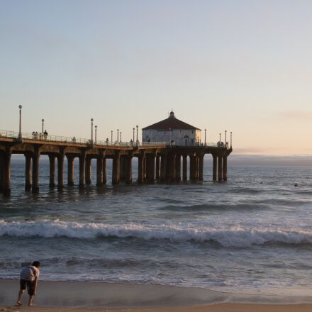 sunset, california, pier, Canon EOS REBEL T6I