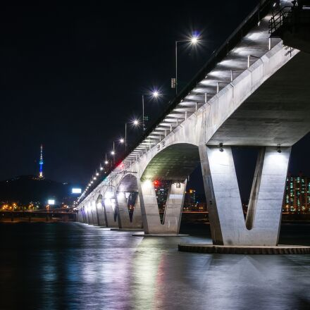 bridge, seoul, river, Sony DSLR-A550