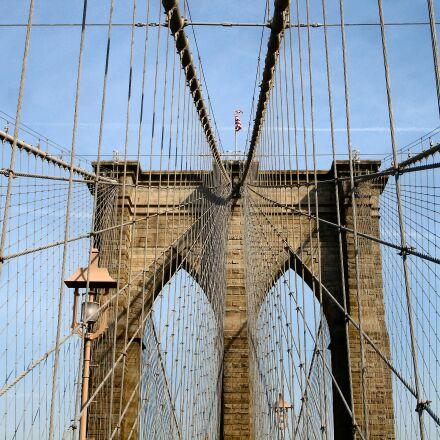 brooklyn bridge, bridge, new, Sony DSC-P200