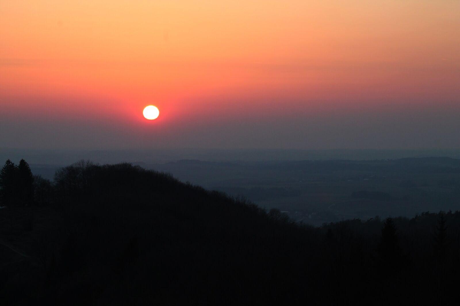 "Canon EOS 1100D (EOS Rebel T3 / EOS Kiss X50) sample photo. ""Sunset, silhouette, landscape"" photography"