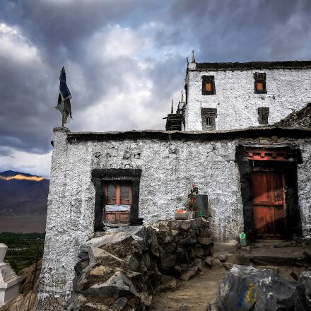 monastery, ladakh, india, Panasonic DMC-GF2
