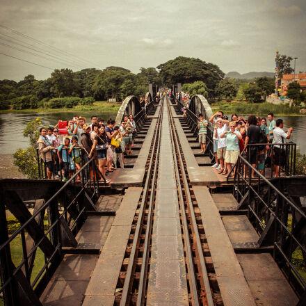 bridge, rails, train, tracks, Canon EOS 550D