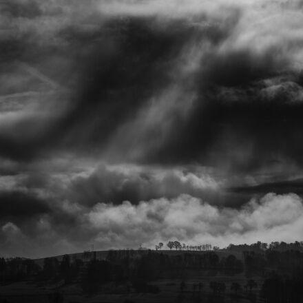 cloud, contrast, dark, Fujifilm X-Pro2