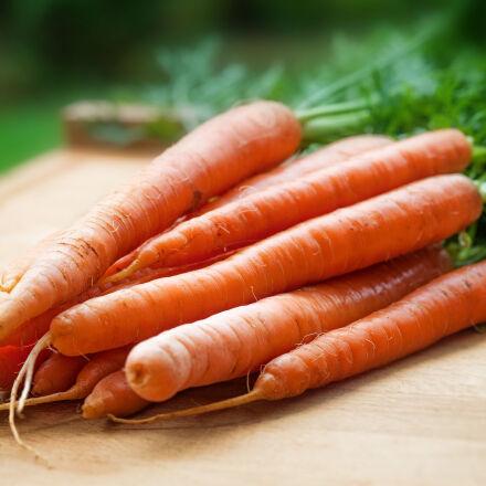 orange, carrots, on, table, Nikon D700