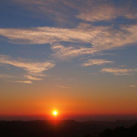 sunset, evening, nature, Olympus E-PL6