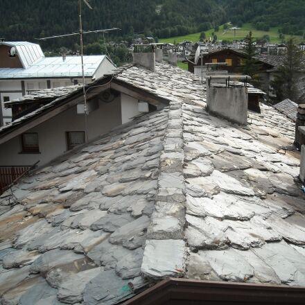 aosta, roofs, tiles, Nikon COOLPIX L18