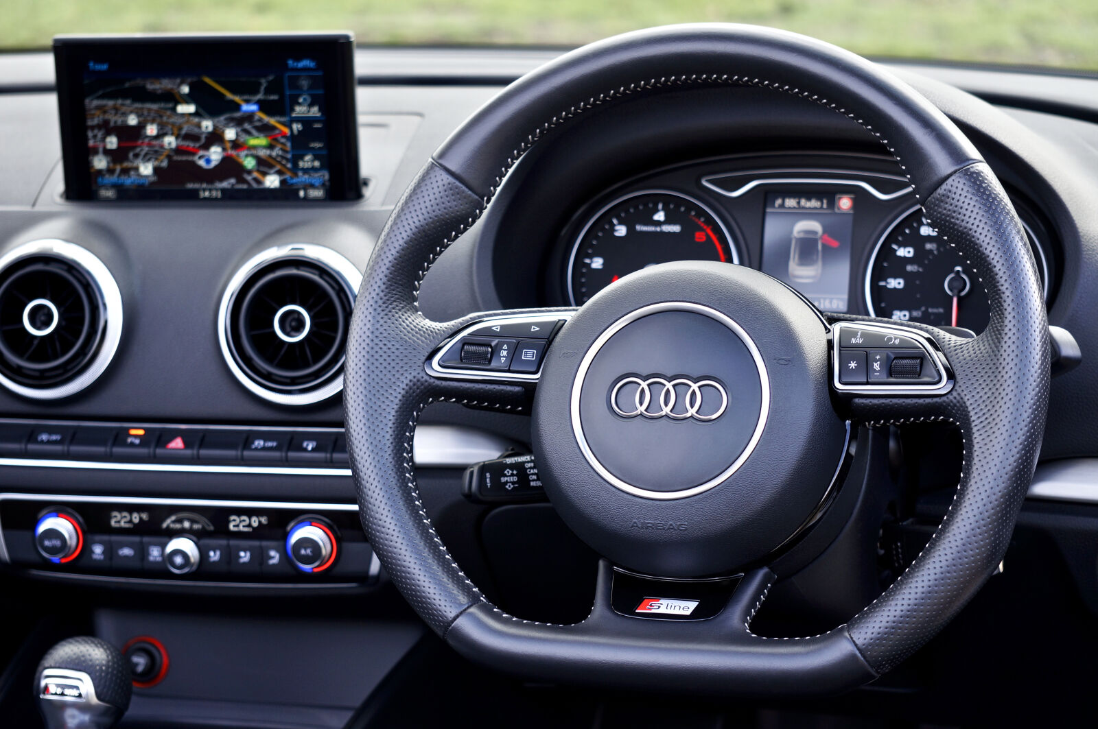 audi, car, interior, controls