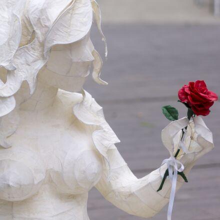 rosa, rose, statue, Sony SLT-A57
