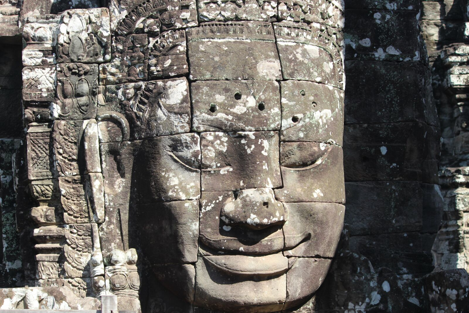 "Canon EOS 600D (Rebel EOS T3i / EOS Kiss X5) sample photo. ""Angkor wat, face, stone"" photography"