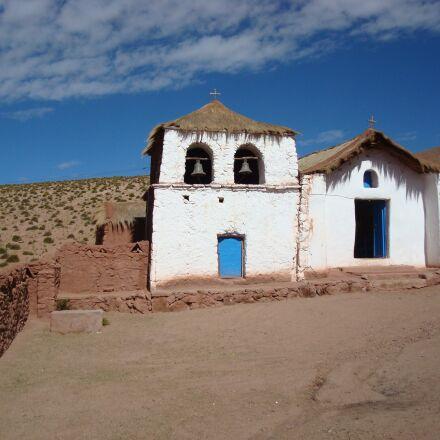 desert, church, clouds, Sony DSC-W90