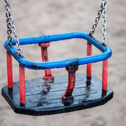 swing, child, playground, Canon EOS 6D MARK II