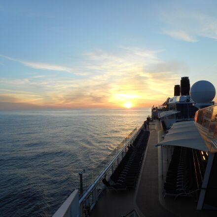 cruise, ship, sunset, Nikon COOLPIX S3600
