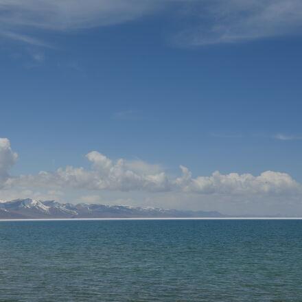 blue, lake, water, Nikon D5100