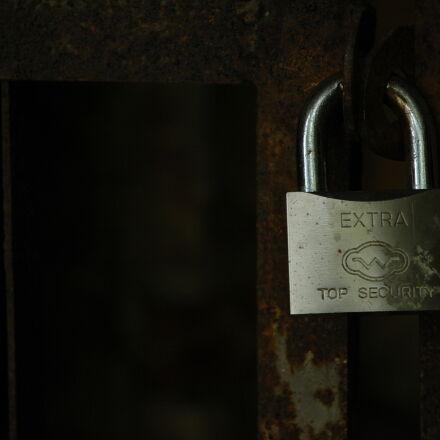 fence, padlock, security, Nikon D70S