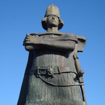 statue, sculpture, man, Sony DSC-W120