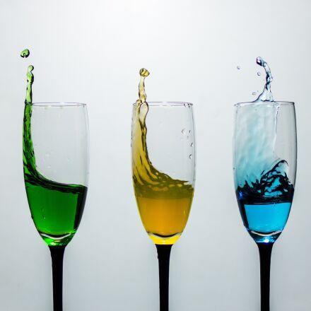 glasses, splash, color, Canon EOS 70D