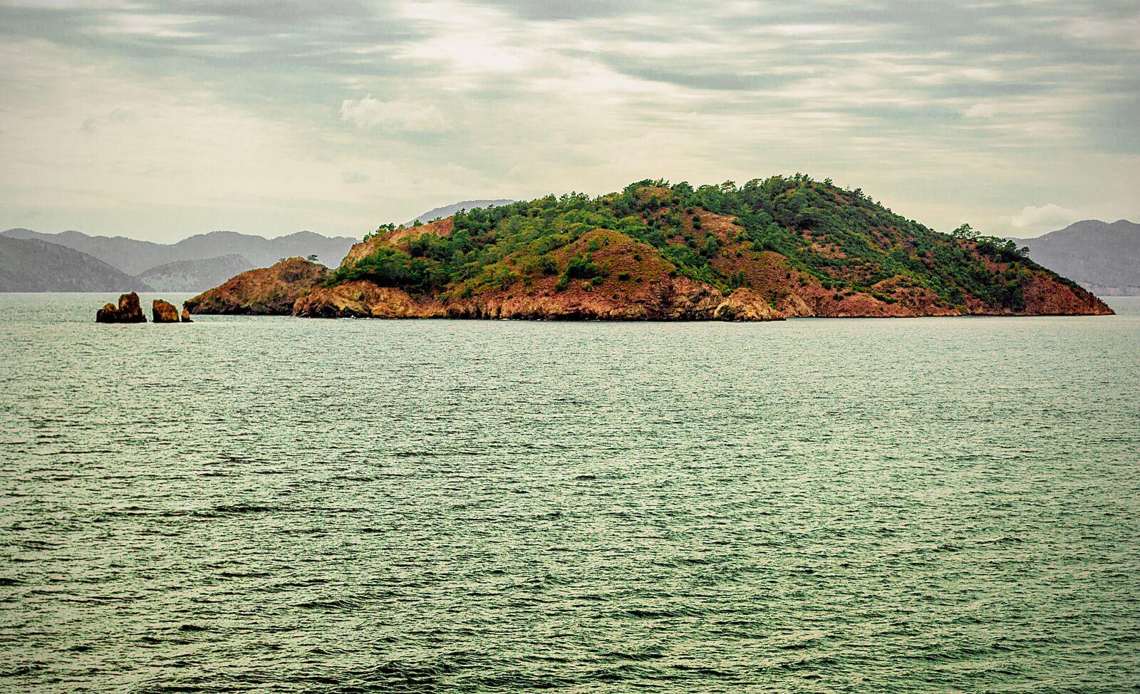 "Canon EOS 60D sample photo. ""Sea, island, clouds"" photography"