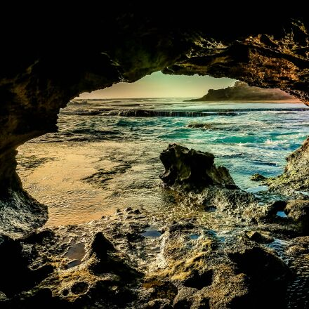 cave, sea, ocean, Panasonic DMC-GH4