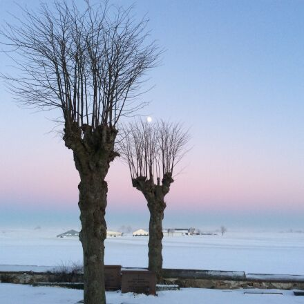 sunset, snow, winter, Apple iPad Air