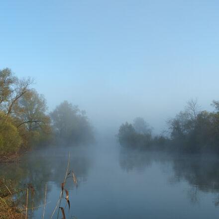 fog, mystical, river, Fujifilm X-E1