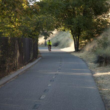 bicycle, commute, moring, path, Nikon D70S