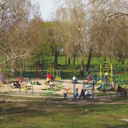 family, kids, night, park, Canon EOS 7D