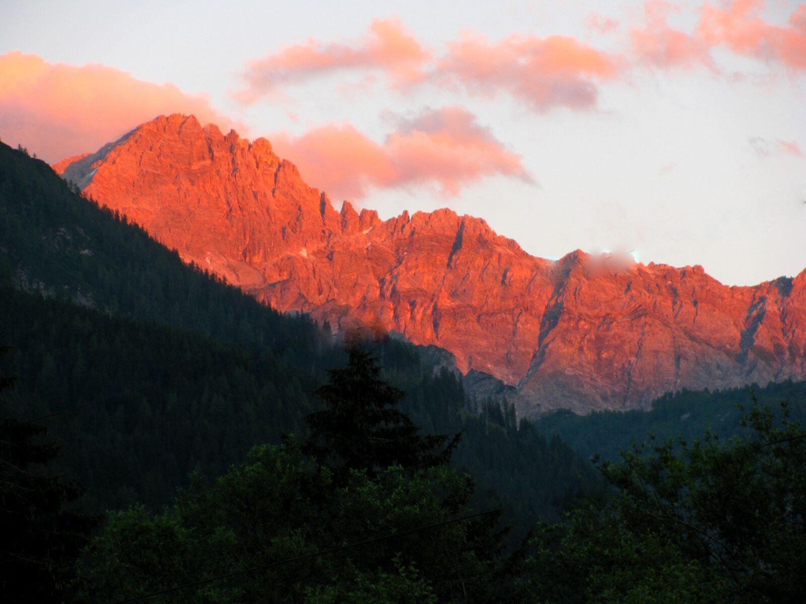 "Canon PowerShot SX110 IS sample photo. ""Sunset, alpine, mountains"" photography"