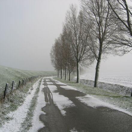 snow, polder, new road, Canon POWERSHOT S45