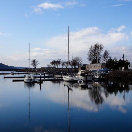reflection, sky, water, Sony DSC-WX150