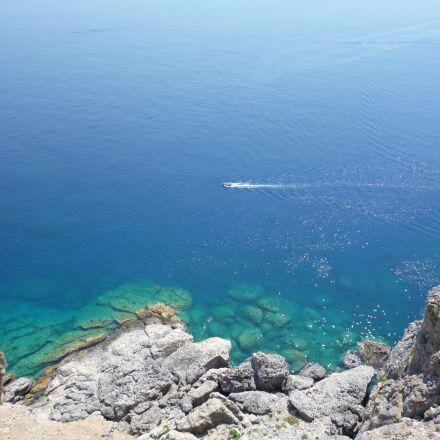 sea, blue, water, Panasonic DMC-FS16