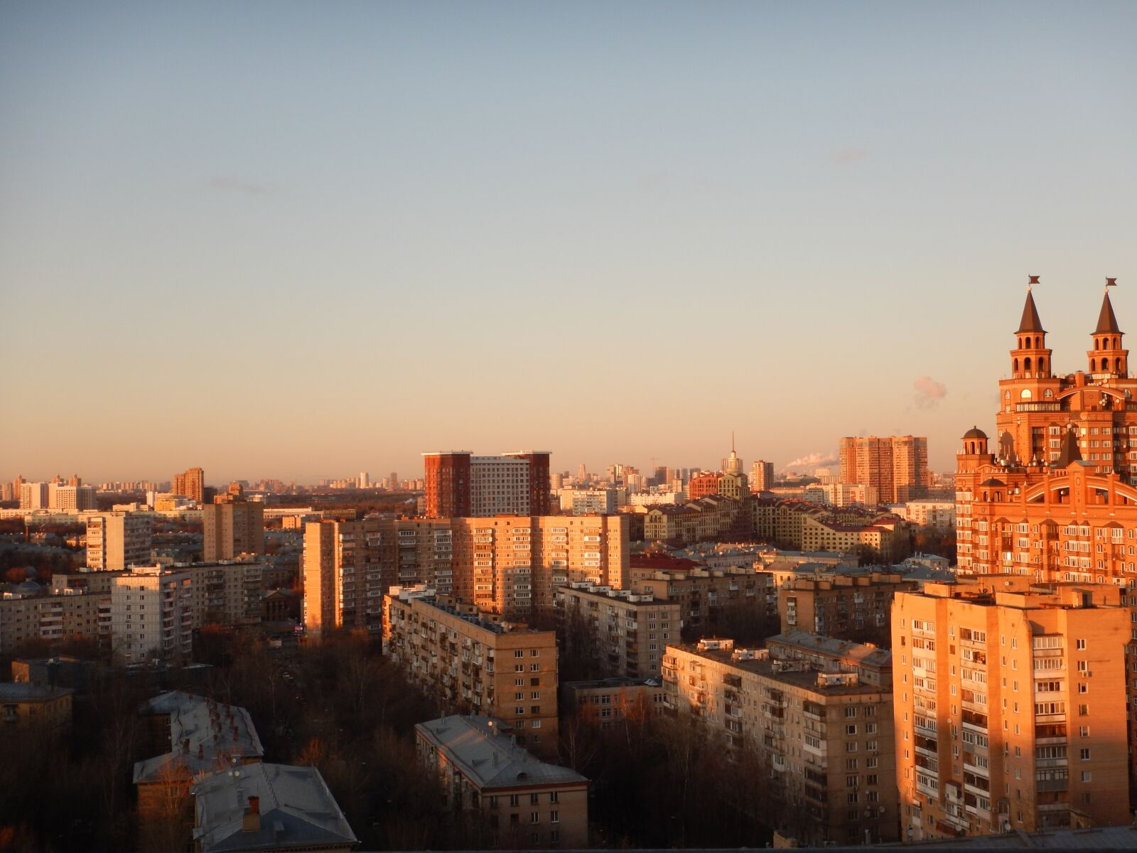 "Nikon Coolpix AW120 sample photo. ""City, moscow, sunset"" photography"
