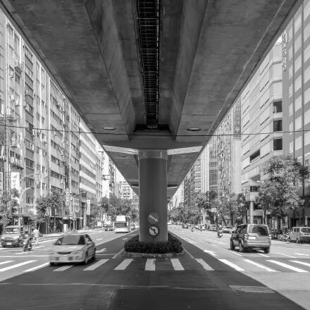city, elevated, subway, Fujifilm X-T1