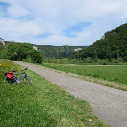 danube, bike ride, panorama, Canon IXUS 255 HS