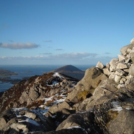 cairn, hike, mountain, Nikon COOLPIX L18