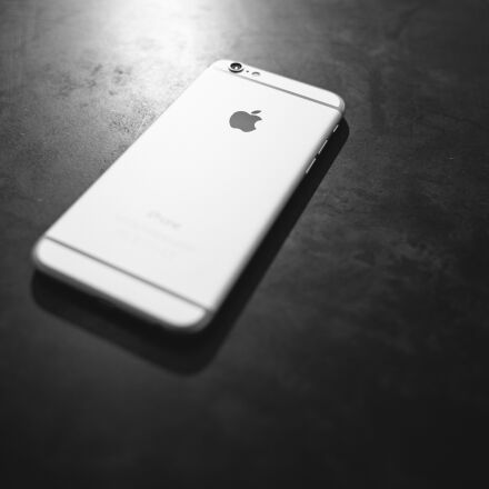 apple, black, and, white, Canon EOS 5D MARK II