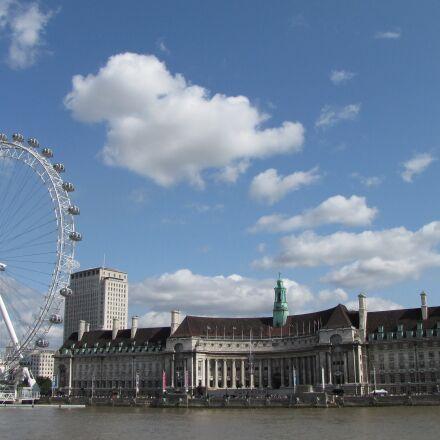 london, london eye, thames, Canon POWERSHOT SX1 IS