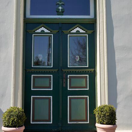 entrance door, green, door, Sony SLT-A99V