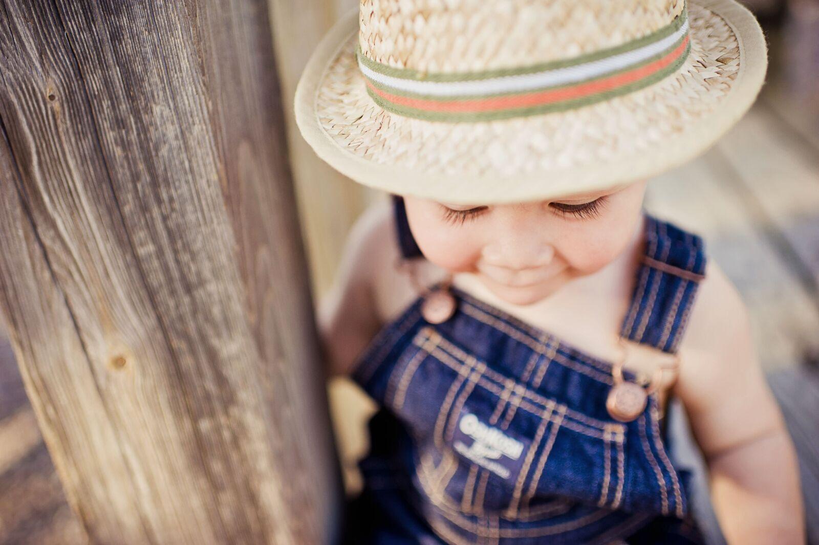 "Nikon D700 sample photo. ""Boy, hat, summer"" photography"