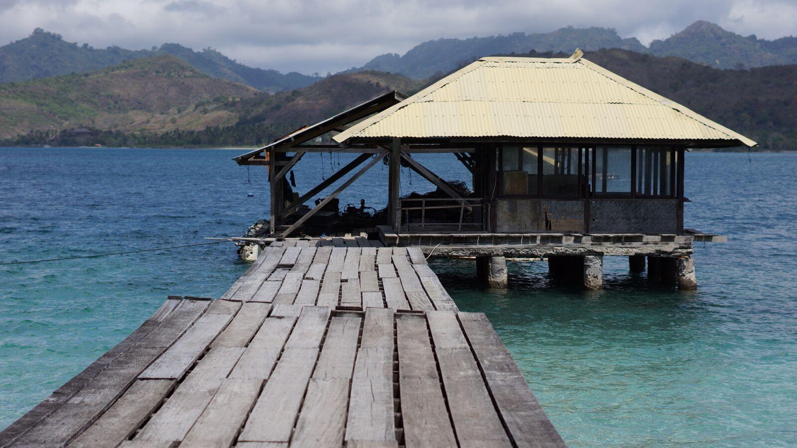 "Sony Alpha NEX-7 sample photo. ""Indonesia, sea, pontoon"" photography"