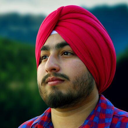 men, turban, portrait, Nikon COOLPIX L24