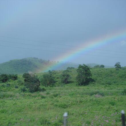 rainbow, vegetation, nature, Sony DSC-T50